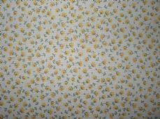 Floral 100% Cotton Fabric in Yellow